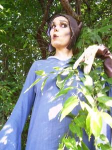 Anita im Botanischen Garten 010