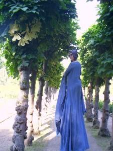 Anita im Botanischen Garten 031
